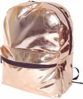 Rose gouden rugzak gymtas 43 cm voor meisjes