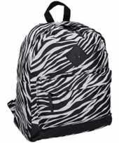 Zebra print gymtas rugzak 13 x 31 x 43 cm 19 liter voor kinderen volwassenen