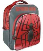 Zwart rode marvel spiderman rugzakken gymtassen 30 x 41 cm reistas voor jongens kinderen